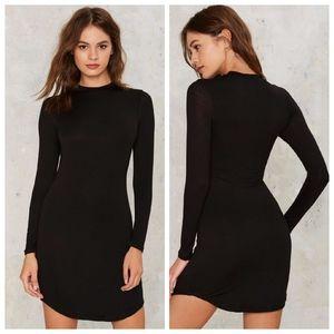 Nasty Gal Morning Crew Mini Dress - Black